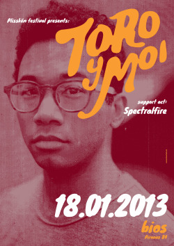onemanshowstudio:  This Friday @ Bios, Athens. Toro Y Moi, full band live! Can't wait!!! Poster design by me (click on the image for a 1412x2000px view).