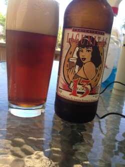beerjerk:  Lagunitas | Lucky 13 | 8.6% ABV | Red Ale As far as reds go, this is pretty solid. Super hoppy, copper in color, gives off a aroma similar to candied nug of weed. For the price, you can't beat it. Good start to a BBQ. Price: 3.99/22oz Bomber Rating: 6/10