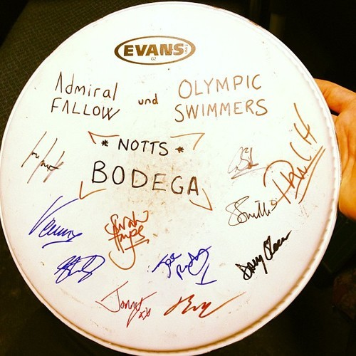 Nice little present from @admiralfallow & @olympicswimmers, cheers for a great gig guys!  (at The Bodega Social Club)