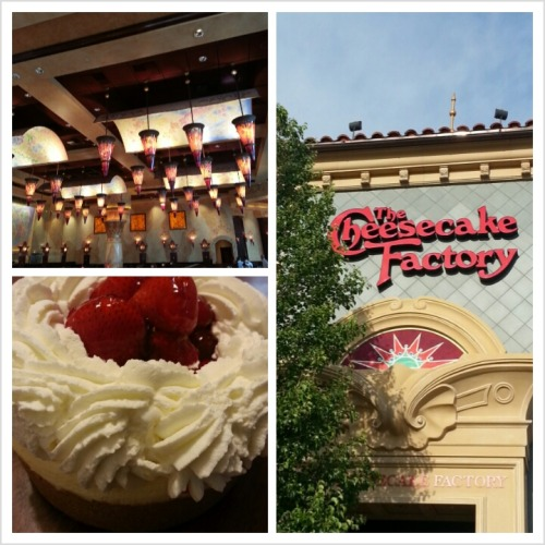 Daddy took me to The Cheesecake Factory