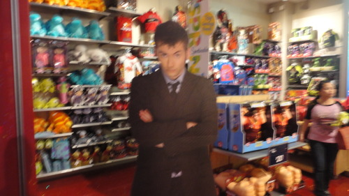 The Doctor visits the Disney store,