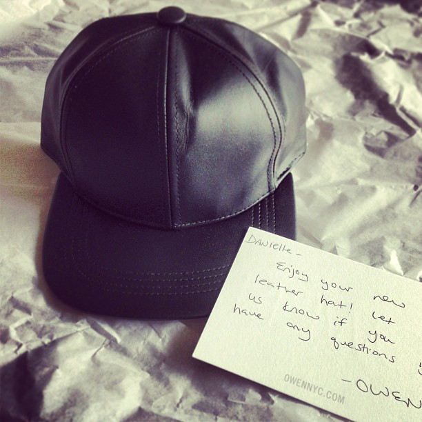 New IN: Leather Cap from Owen NYC (taken with instagram)