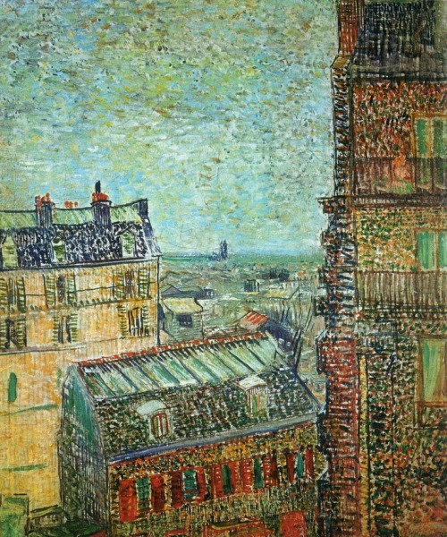 acqua-di-fiori:  View of Paris from Vincent's Room in the Rue Lepic ( 1887 ) - Vincent van Gogh