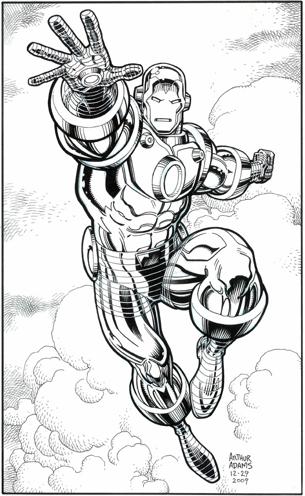 brianmichaelbendis:  Iron Man by Arthur Adams