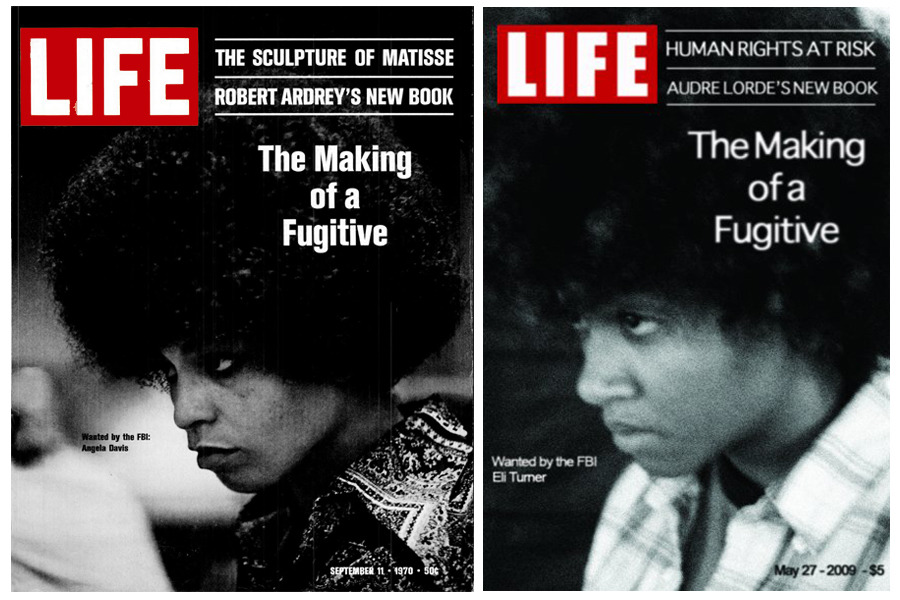 """The Making of a Fugitive""  Remake of the LIFE Cover featuring Angela Davis on trial in 1970."