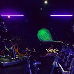 Love my spinning classes! #sydney #gym #exercise #spinning #neon #energy!