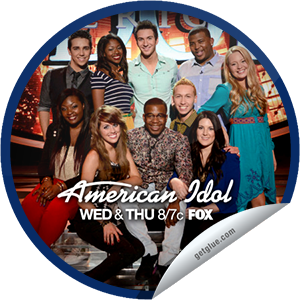 "I just unlocked the American Idol: Top 10 sticker on GetGlue                      6747 others have also unlocked the American Idol: Top 10 sticker on GetGlue.com                  The Season 12 finalists deliver songs performed by past ""American Idol"" winners. Share this one proudly. It's from our friends at http://americanidol.com and FOX."