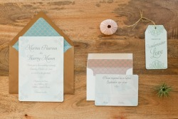 Llorente Design invitations for a mermaid inspired elopement