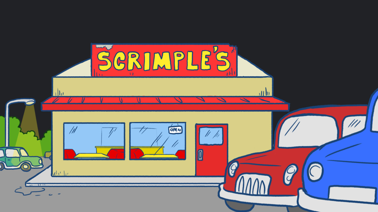 "frederator-studios:  Scrimples Delight A Manny Hernandez background from this week's SuperF*ckers episode, ""Scrimples Delight."""