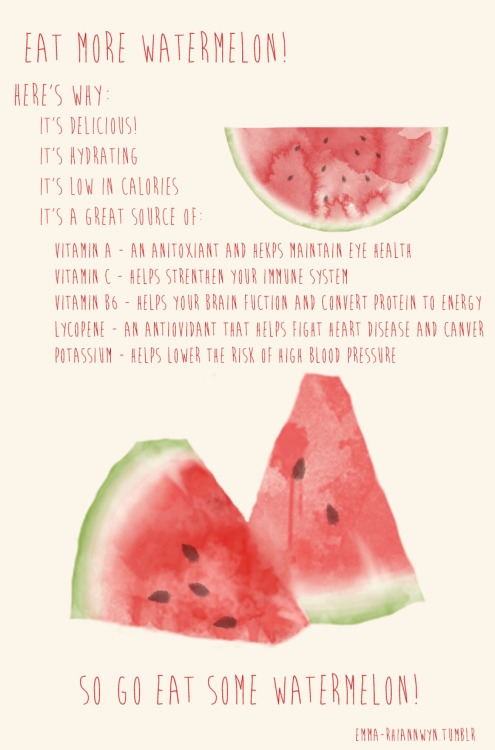 fit-personality:  I once ate an entire watermelon in the span of 2 days. No regrets.