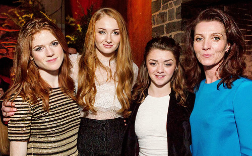 Rose Leslie, Sophie Turner, Maisie Williams and Michelle Fairley at the Game of Thrones Season 3 San Francisco Premiere