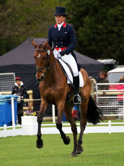 ladynapalm:  Pippa Funnell and Mirage D'Elle in the CIC3* Dressage, Chatsworth Horse Trials 2013.
