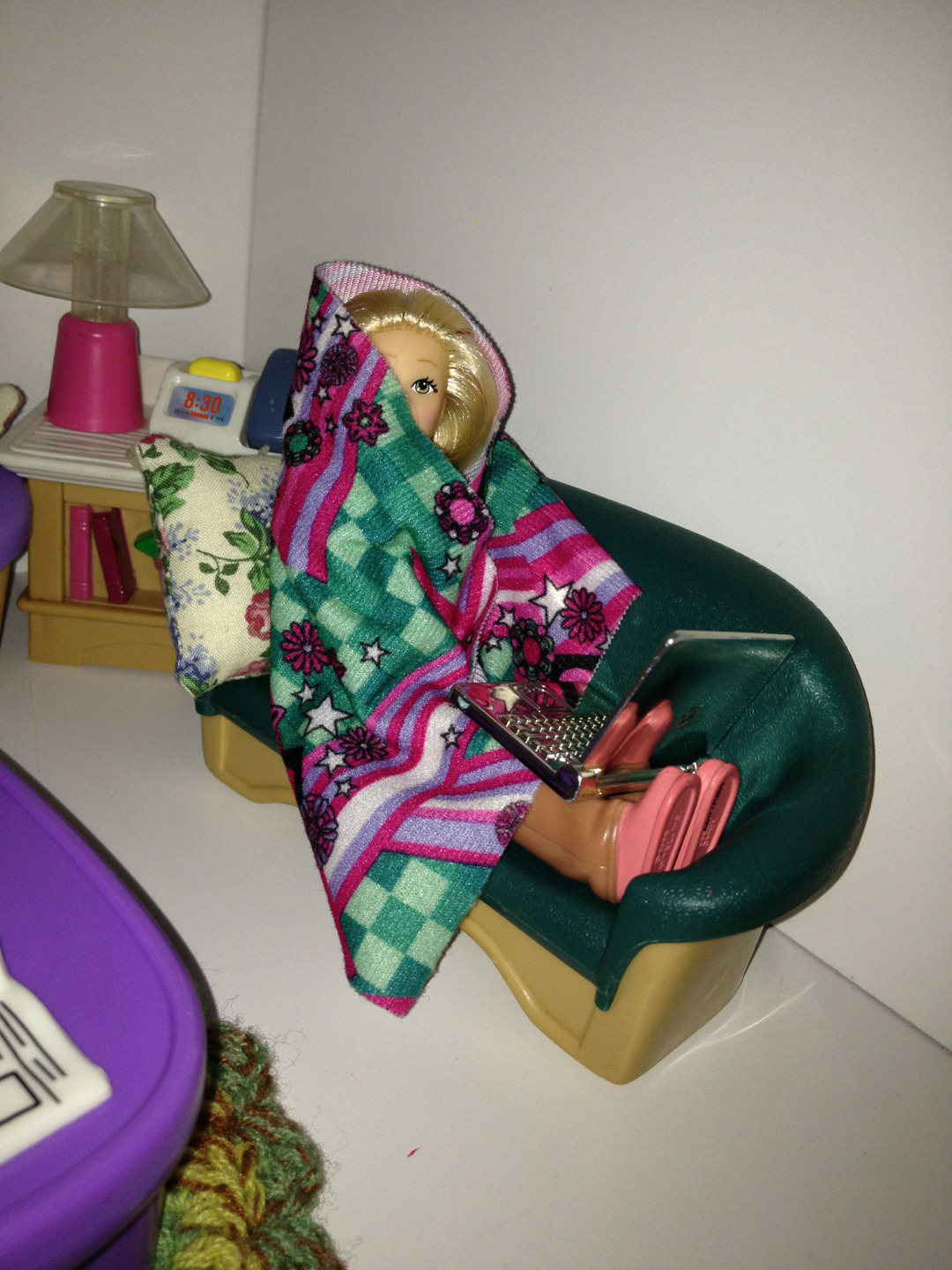 "lolsofunny:  So I went into my seven year old sister's room to look at her doll house because she ran downstairs screaming ""I MADE YOU IN IN DOLL FORM"" and I'm actually not disappointed at all."