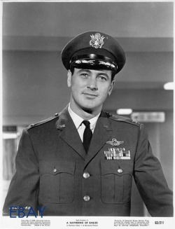 the-rock-hudson-project:  Rock Hudson in 'A Gathering of Eagles'