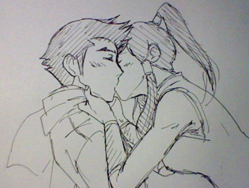 jlsdrawings:  Idgaf if 90% of fandom hates Mako or this ship, I love them.