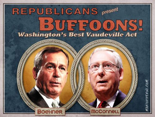 Boehner and McConnell are buffoons