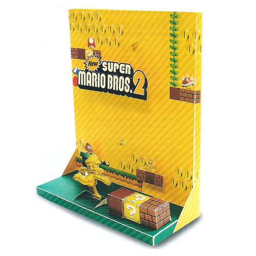 Awesome New Super Mario Bros. 2 Diorama Tiny Cartridge posted this super cool papercraft that was included in the October issue of the Official Nintendo Magazine. There's a scan of ithere, just in case you want to fold and cut away and make this cool scene yourself.  BUY New Super Mario Bros. 2, New Super Mario Bros. UVIA Nintendo Papercraft