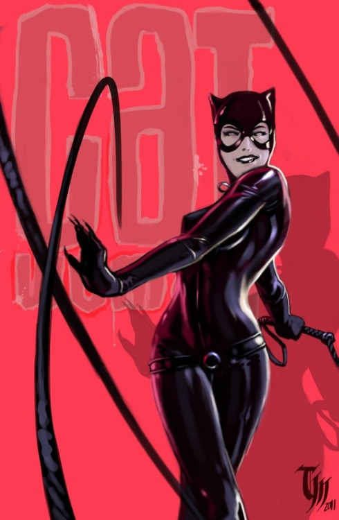 a-harlots-progress:  Cat Woman by ~Mattasama on deviantART this is the cat woman I wanted to see in the Newist Batman movie