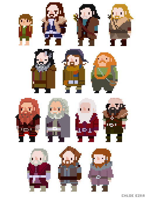 azidraws:  Hobbit pixels