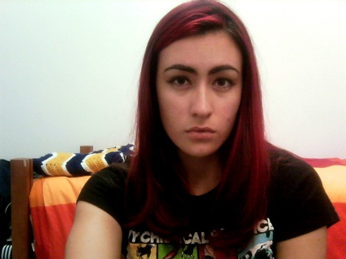 I had so much Killjoy pride, I even dyed my hair red cause Gerard's was red too :S I loved my hair… I'm never throwing that shirt away either.