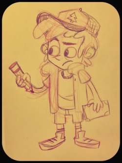 Here's another quick sketch from today :D  It's a goofy Dipper Pines from Gravity Falls  Sketch; pencil & paper.