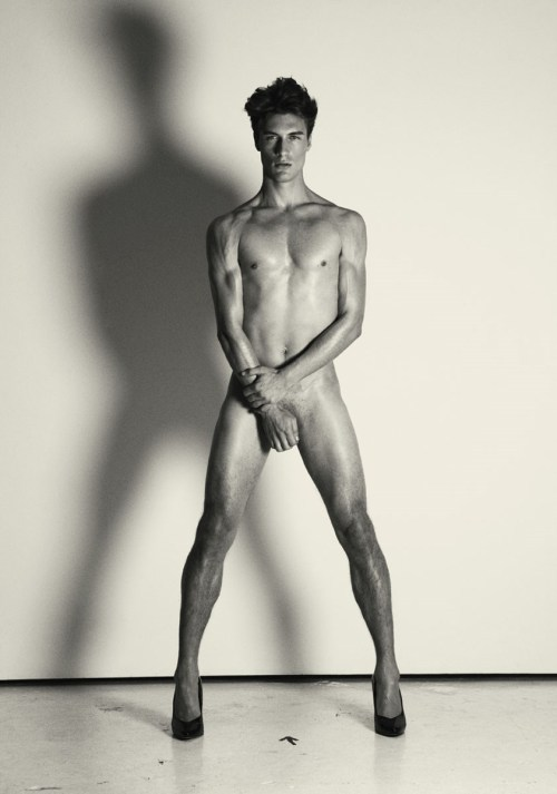 Sexy Sundays: I love a sexy naked man in a pair of heels. Thanks Homotography. Here are the rest of the images Corey Wallace by Liz Ham.