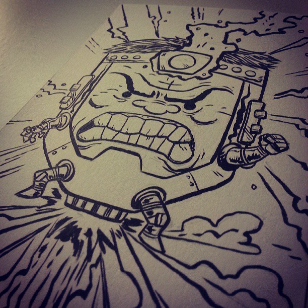 Here I have drawn M.O.D.O.K. #comics