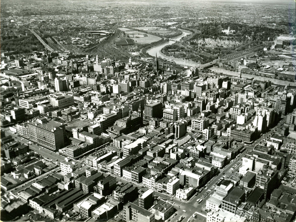 The city of Melbourne, 1956