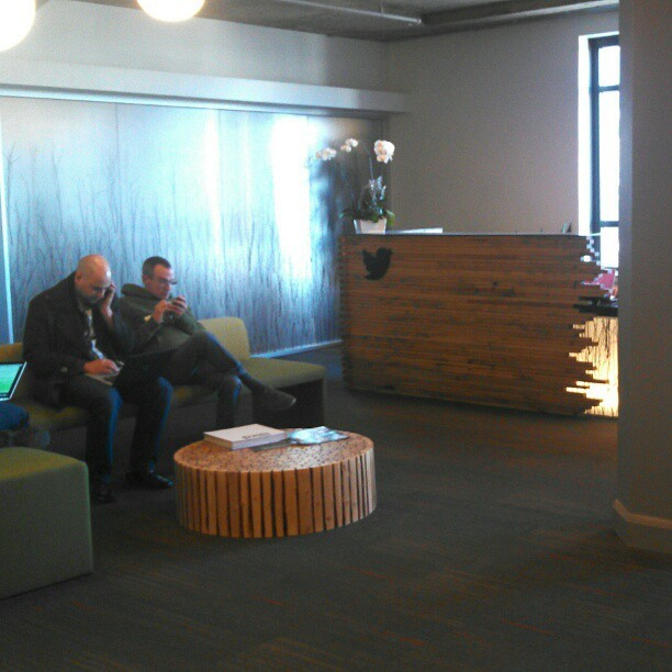 Twitter reception area #latergram  (at Twitter HQ)
