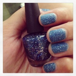 "OPI liquid sand mariah carey edition ""get ur number"" 😍😘"