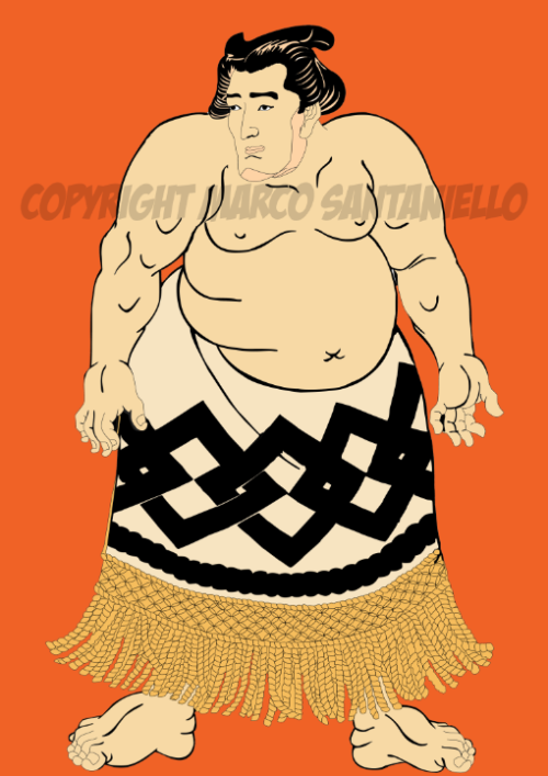 "NEW #UKIYOE REPRODUCTION ""THE SUMO FIGHTER"" BY @SUPERSTARMIX #MARCOSANTANIELLO"