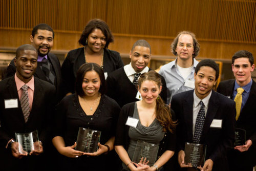 "#MakingADifference? You bet. These 11 students from North Campus were the proud recipients of this year's MLK Spirit Award, including 4 from Michigan Engineering: Chanel Beebe, Nick Clift, Rama Mwenski and Mauro Rodriguez. ""Exemplifying the leadership and vision of Dr. King,"" these students deserve a pay it forward reblog to promote their message of STEM, equality and social justice on campus. #Hail"