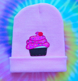 Cute Cupcake Hand Patched Beanie by MoonShineApparel on Etsy on We Heart It - http://weheartit.com/entry/52888744/via/MoonShineApparel