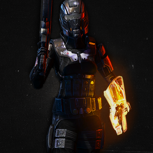 Favorite Mass Effect Multiplayer Characters (1/?)  N7 Demolisher    Is it incredible that I was just about to search this on Tumblr because I just acquired it yesterday, but then I scrolled down this page and there it was? I think it's incredible. I can't wait to spec this one.