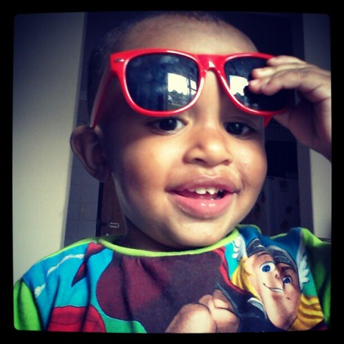 Miraj testing out his shades #shades #cute #family #nephew #love