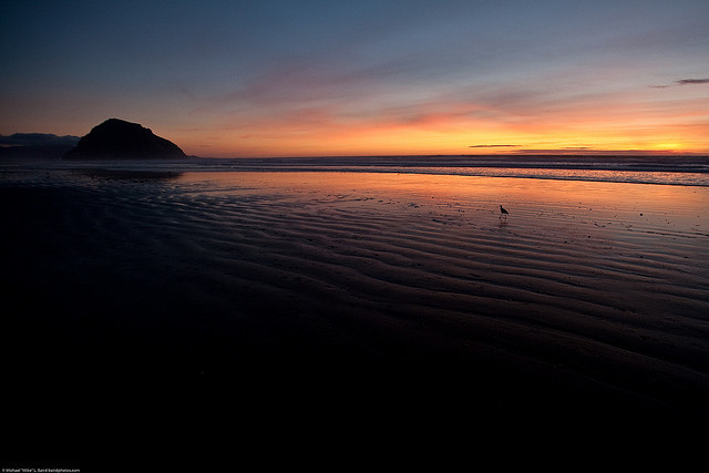 Sunset on Morro Strand State Beach (by mikebaird)