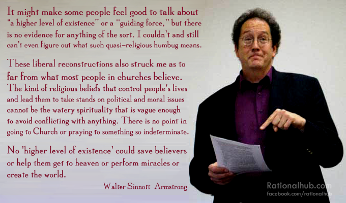 Walter Sinnott-Armstrong on sophisticated theology by ~rationalhub
