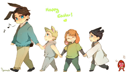 lynneh9:  Quick easter thingy, i couldn't pass up the chance to draw bunnies sorry