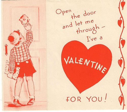 Would you be ours this Valentine's Day? We're smitten with this cute vintage Valentine? via Flickr user Bitsorf
