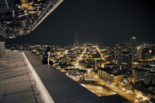 Rooftopping Photography by Aurelie Curie Rooftopping is the act of scaling the roofs of tall buildings to capture incredible images like the ones seen above. Often without permission the death defying urban exploration is a daring activity and the work of Aurelie Curie is not for those with a fear of heights. I suggest having a flick through her flickr as it's stacked full of incredible photography and her skills are not just in rooftopping.  Artists: | Website | Facebook | Flickr |  [via: Twisted Sifter]