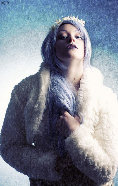 Winter Voltage on Flickr. Photography/Styling/Retouch:  Me:) Model and MUA: Krista aka anestheticx Wardrobe: Fringefalcon Textures: Morguefile and BittboxFacebook / Tumblr / Behance / www.sabrinarummell.com