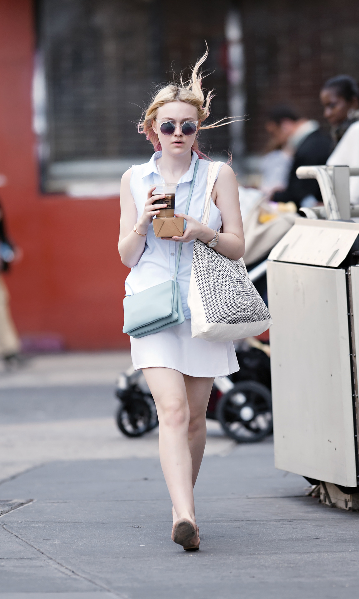 Dakota Fanning in NYC, April 9th