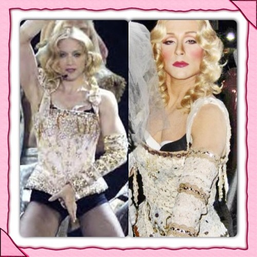 #throwbackthursdays me as #madonna when I use to perform in #drag as #MissLadyRevlene #glamour #glammakeover #dragqueen #femaleimpersonation #fromboytogirl #manaswoman #madonnaimpersonator #makeupmagic #makeup