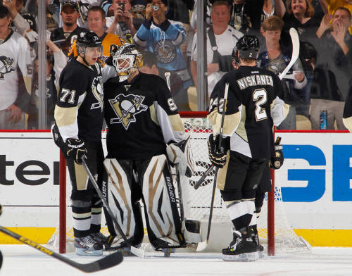 According to the NHL, with Vokoun's shutout, it marks first time in 34 years 2 different goalies have a shutout in a single series for the same team.