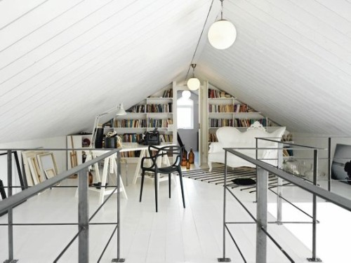 cool attic workspace (via DigsDigs)
