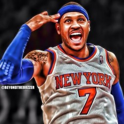 techandmusicfan:  I can't even lie. #Carmelo is playing out of his mind. I am kind of happy the #Knicks are playing well. They're still not seeing the #Heat though. #NBA #NYC #Miami.