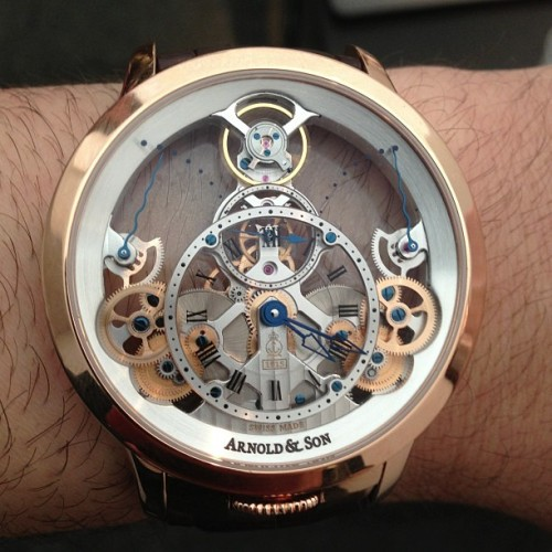 ablogtowatch:  Arnold & Son Time Pyramid watch is totally sex on the wrist. #baselworld2013 #ablogtowatch #watchporn #watch #instawatches  (at Baselworld 2013)