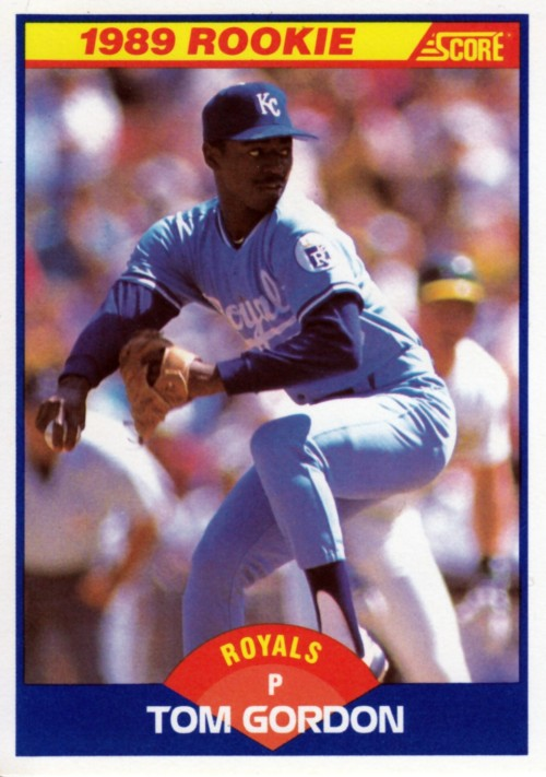 Random Baseball Card #2378: Tom Gordon, pitcher, Kansas City Royals, 1989, Score.