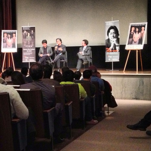 "Park Chan-Wook at a screening of ""Stoker"" at the Freer-Sackler Gallery in Wasington, DC. He answered one of my questions. All is good."