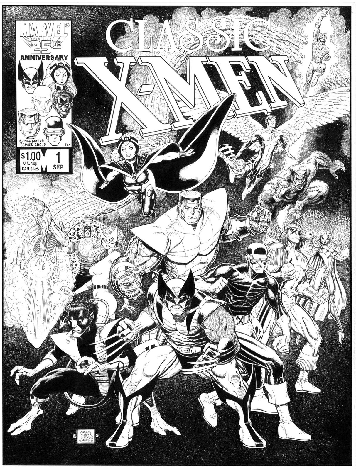 This is a commission of Classic X-Men #1, drawn by Art Adams as he would draw it today. Via Brian Michael Bendis' Tumblr.